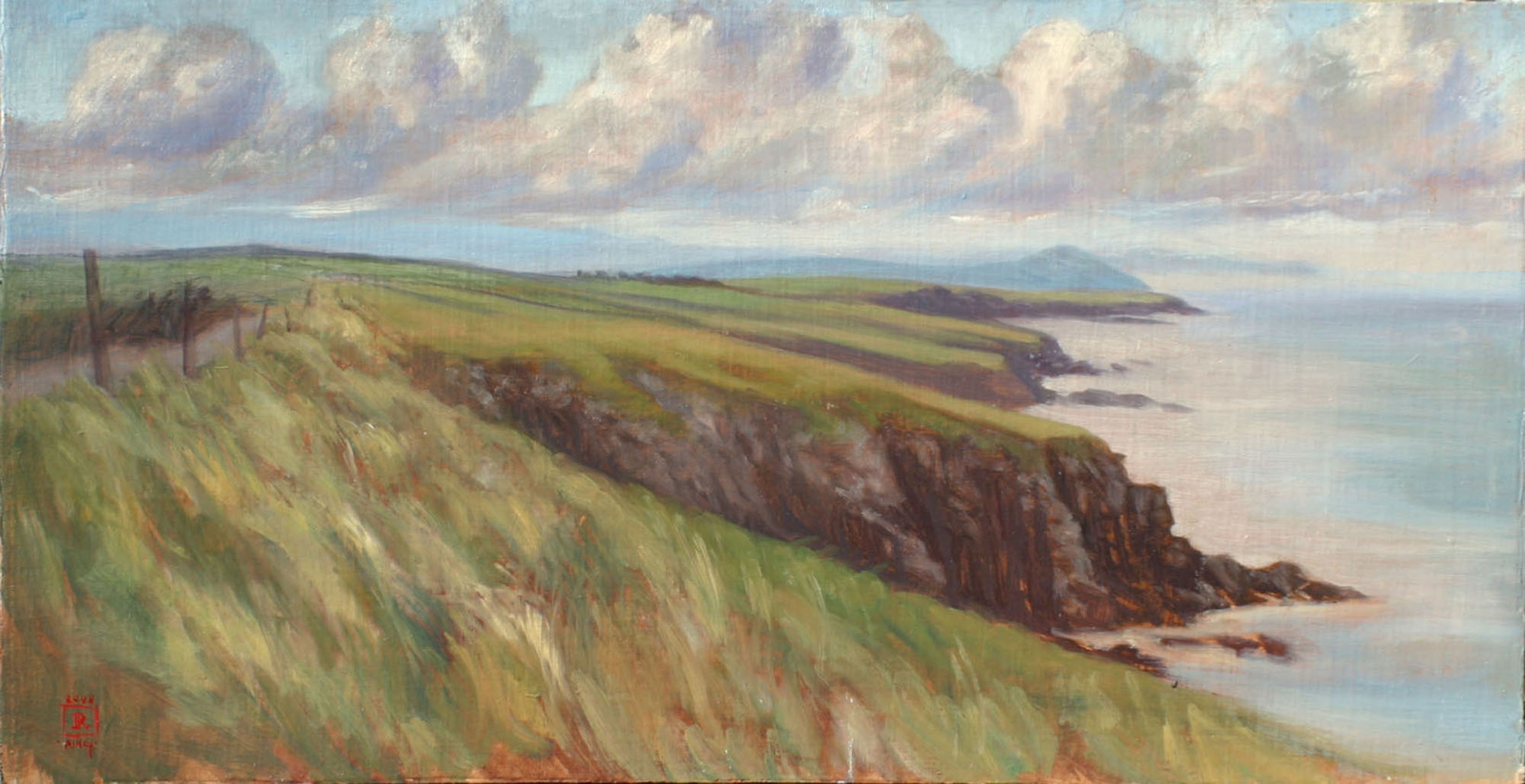 SOLD Looking Back Towards Dingle, Ireland 12x24 Oil by Rebecca King
