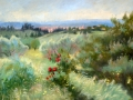 SOLD Above Florence, Close to Maiano Oil 12x16 by Rebecca King
