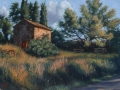 SOLD Barn at Poungadoresse 12x16 Oil by Rebecca King