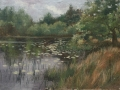 SOLD Lilypads 12x16 Oil by Rebecca King