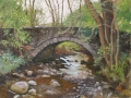 SOLD Pont Dolorgan, Near Talsarnau, Gwynedd 12x16 Oil by Rebecca King