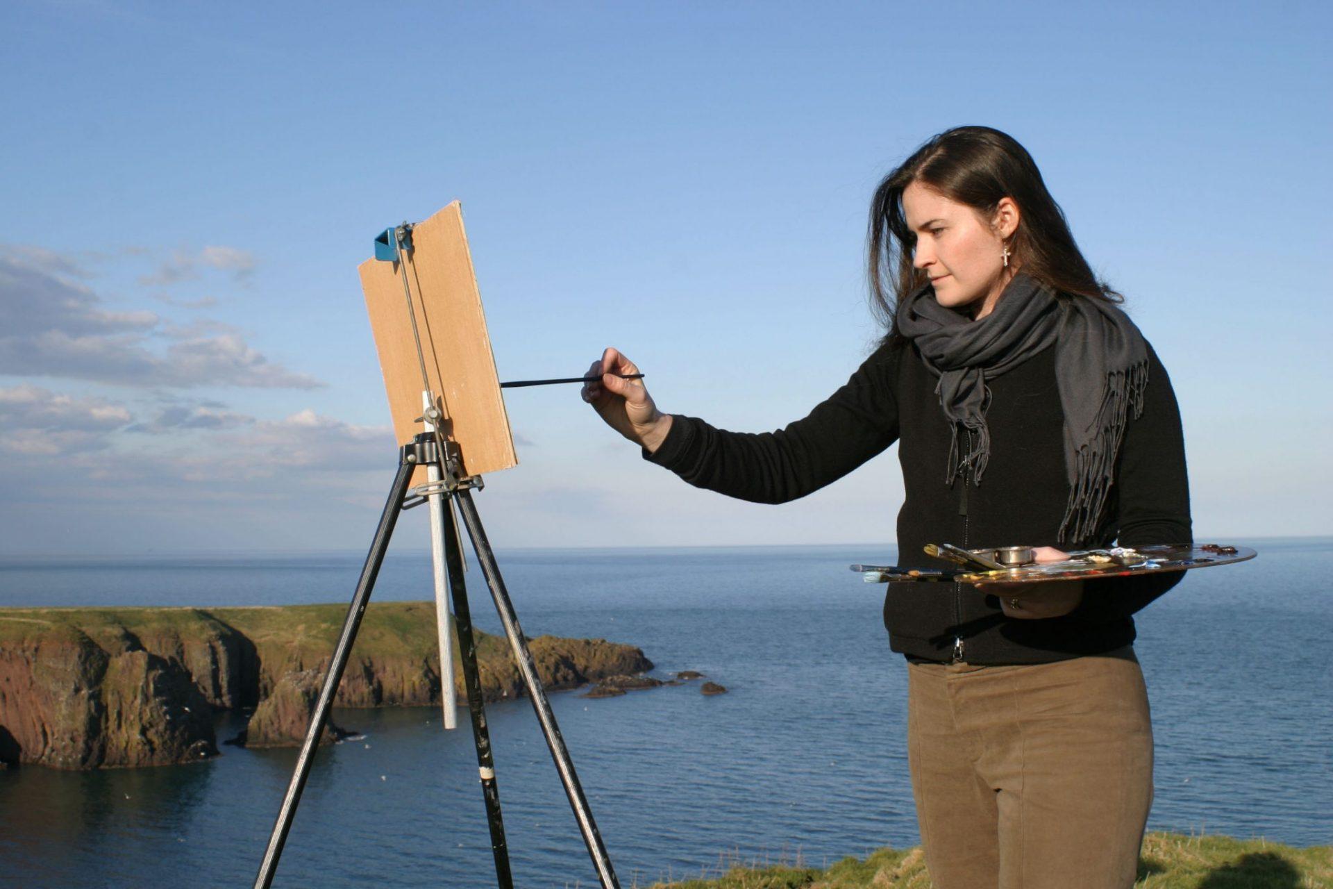 Rebecca King Hawkinson at work in Dingle Ireland