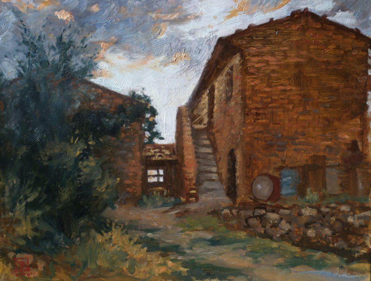 Barn Near Pienza, Tuscany 2006 by Rebecca King Hawkinson
