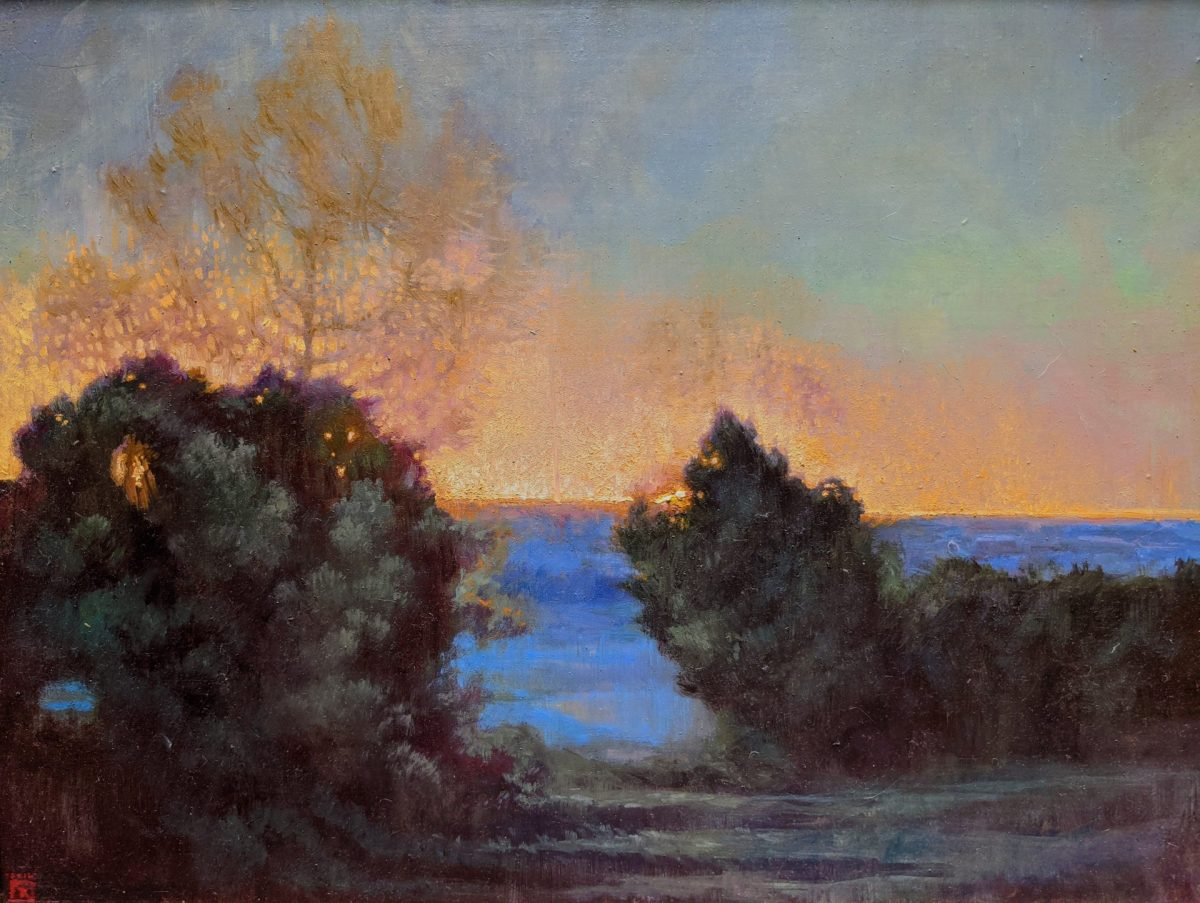 Morning Break 14x18 Oil on Panel Rebecca King Hawkinson $2800