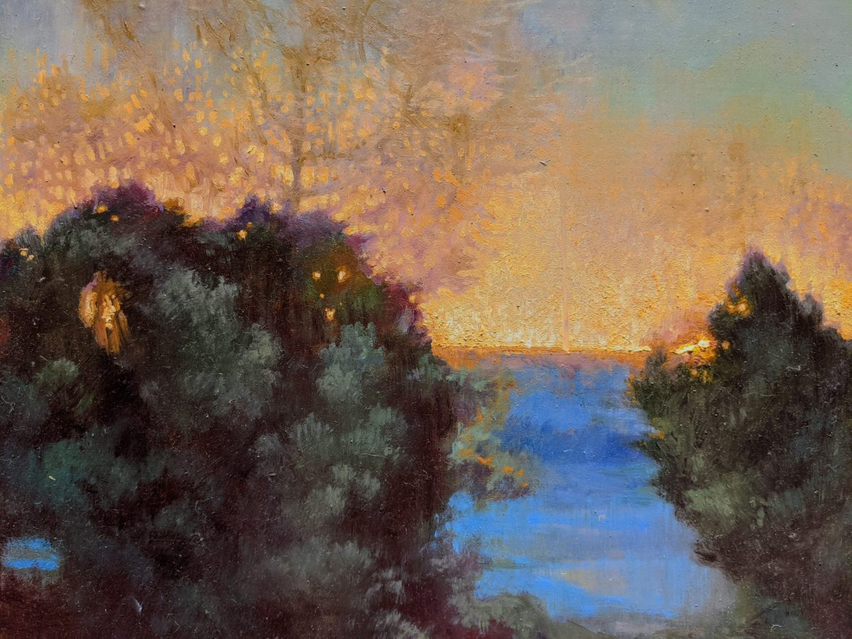Morning Break Detail 14x18 Oil on Panel Rebecca King Hawkinson $2800