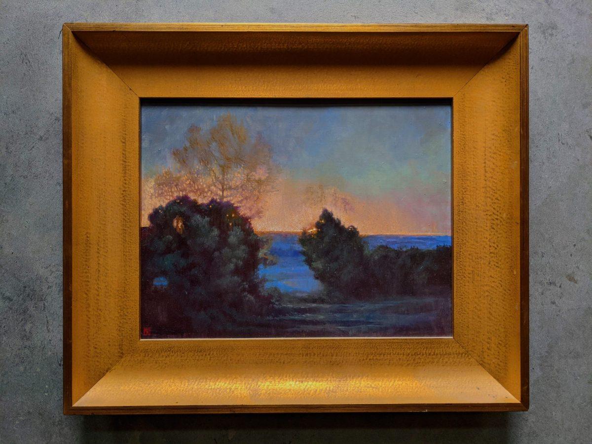 Morning Break Framed 14x18 Oil on Panel Rebecca King Hawkinson $2800