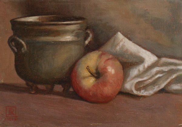 Copper Pot Apple by Rebecca King Hawkinson
