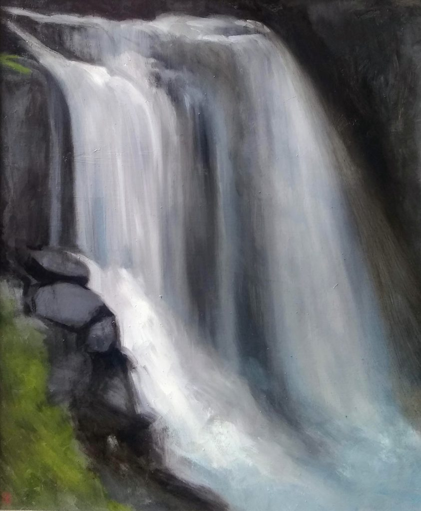 Dry Falls 19 x 23 Oil on Linen Rebecca King Hawkinson