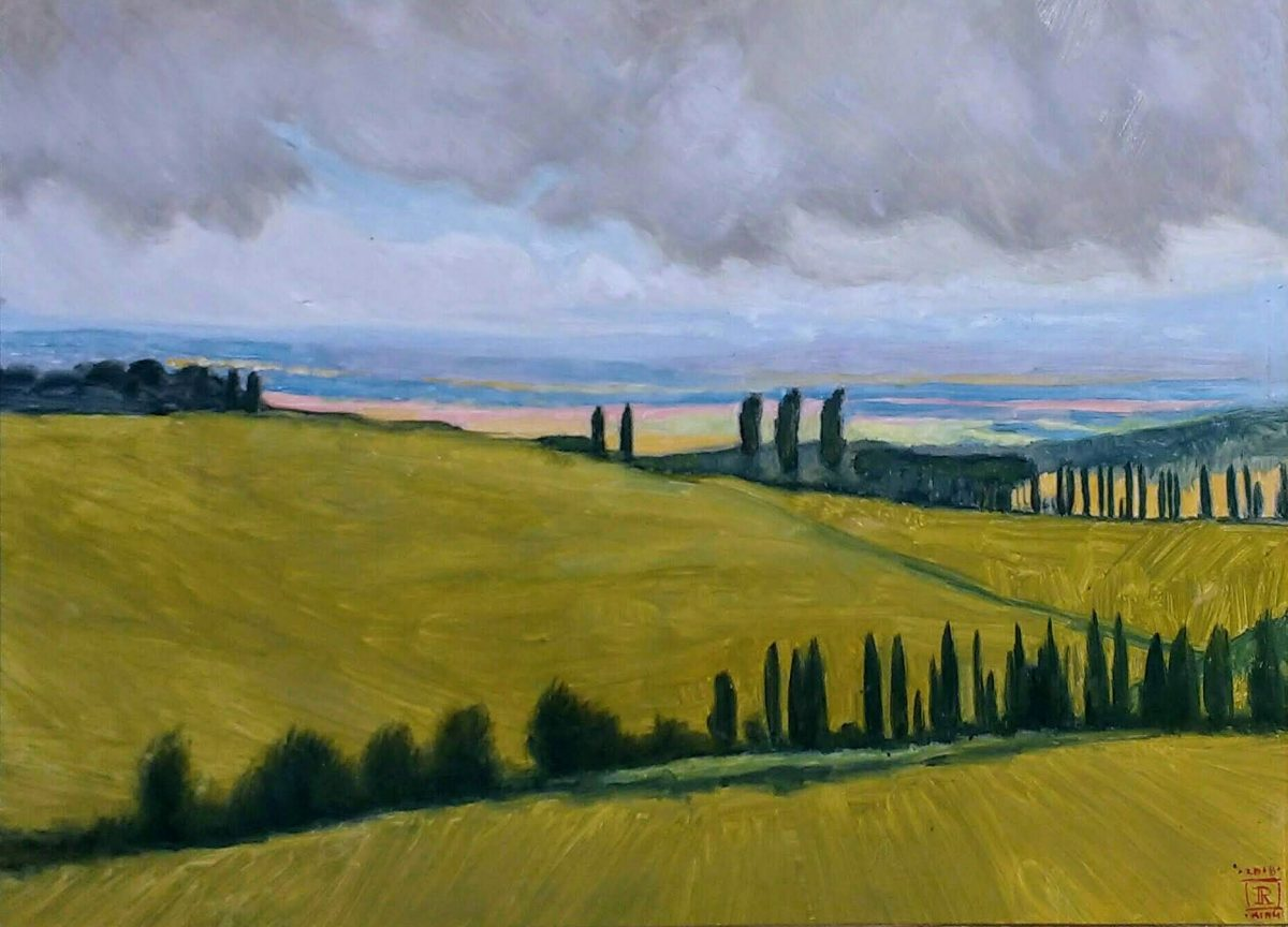 In the Val D'Orcia Oil Painting by Rebecca King Hawkinson