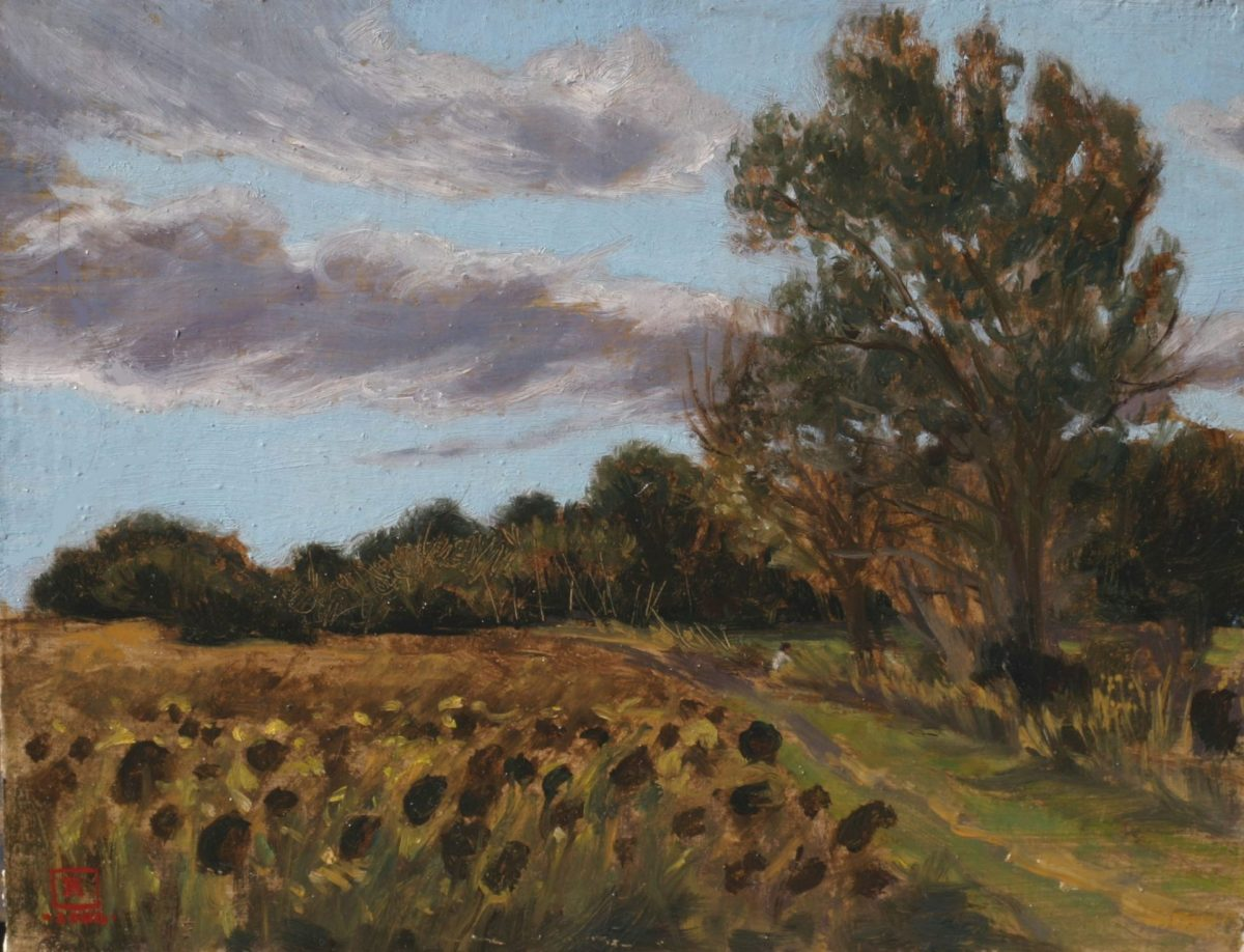 Sunflowers 8x10 Oil on Panel 2006 by Rebecca King Hawkinson
