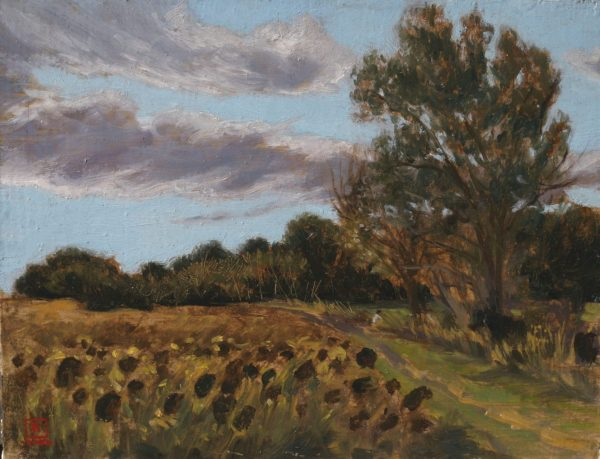 Sunflowers 8x10 Oil on Panel 2006 by Rebecca King Hawkinson
