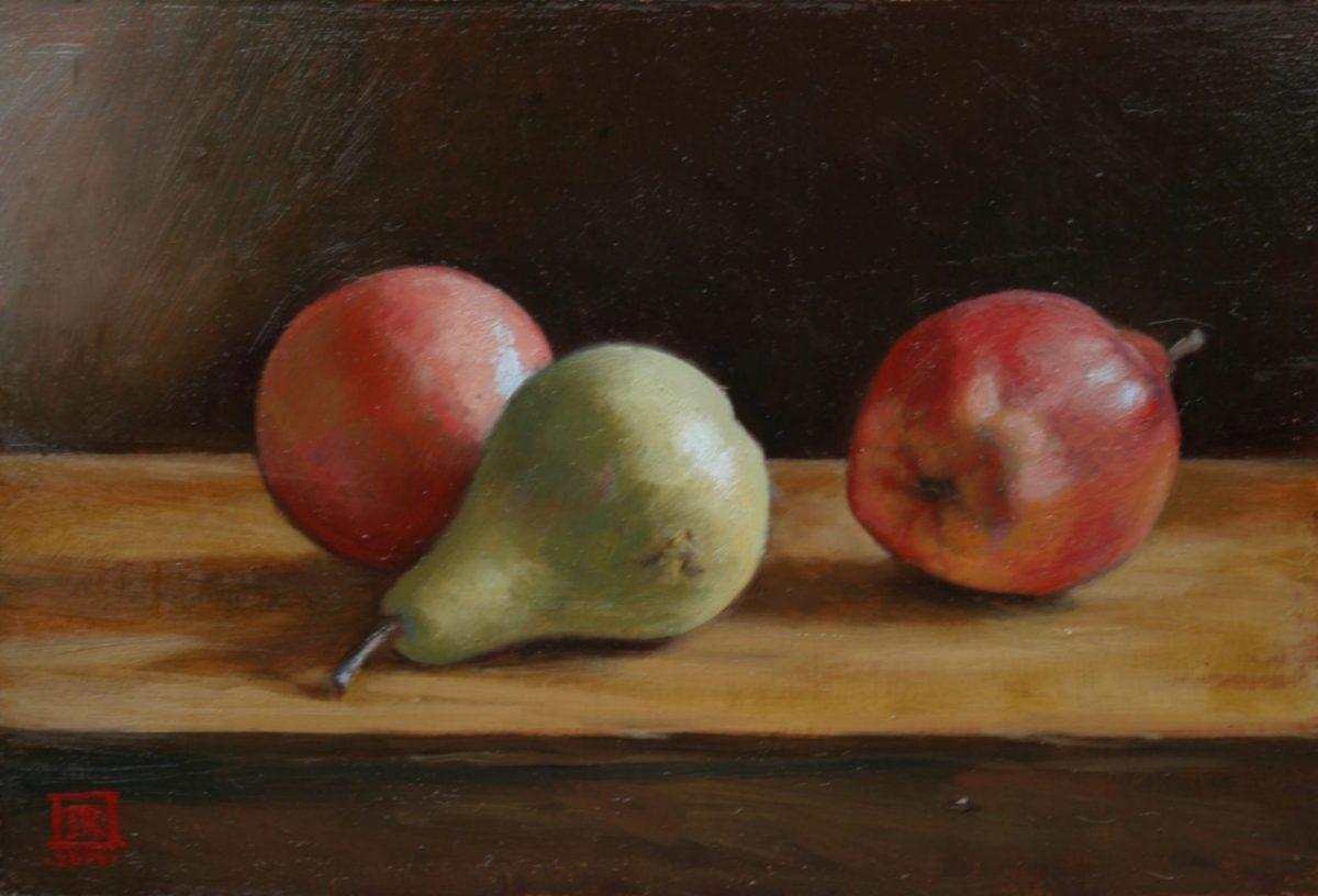 Three Pears by Rebecca King Hawkinson