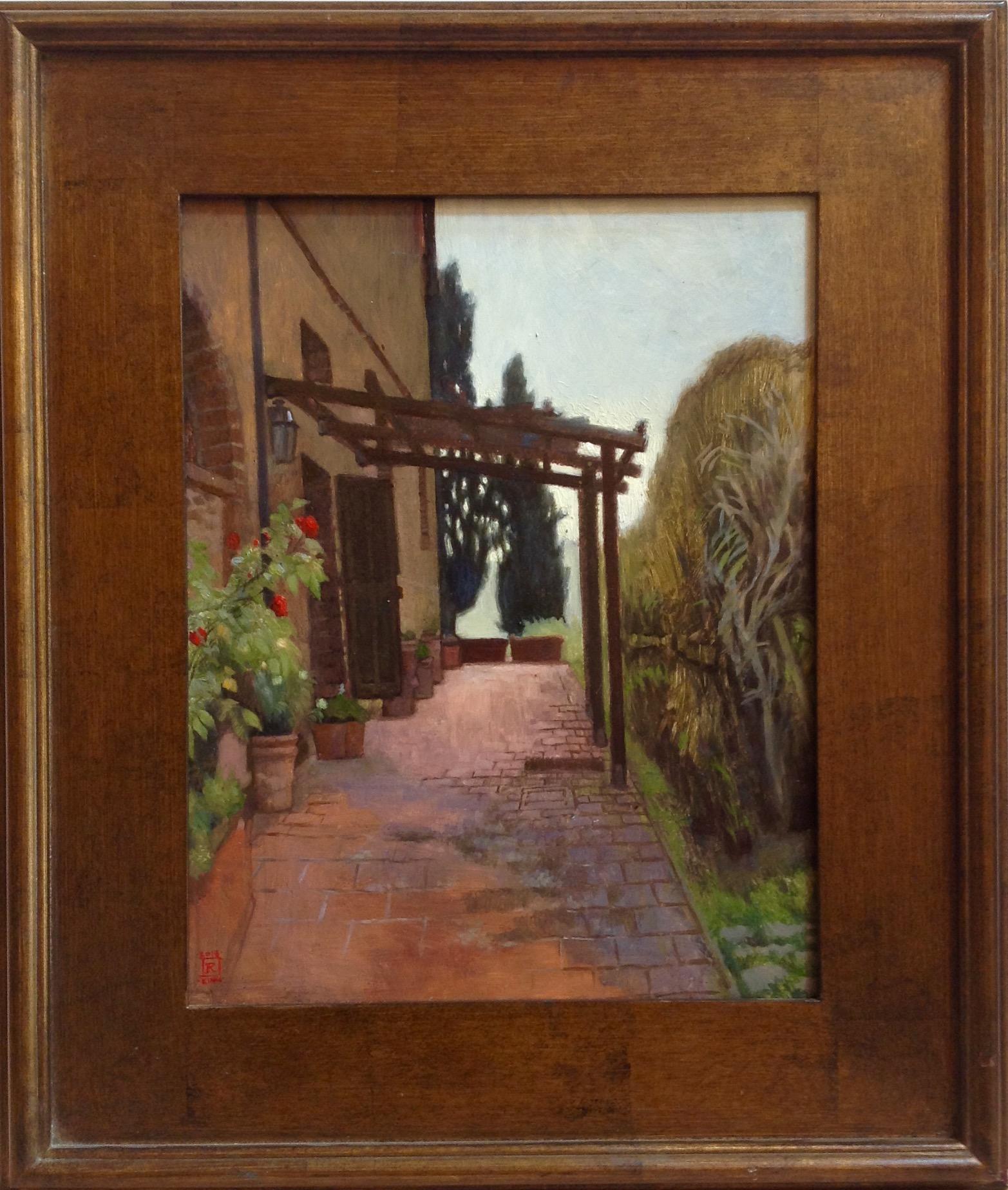 Morning Walk Oil on panel 11x14 by Rebecca King Hawkinson