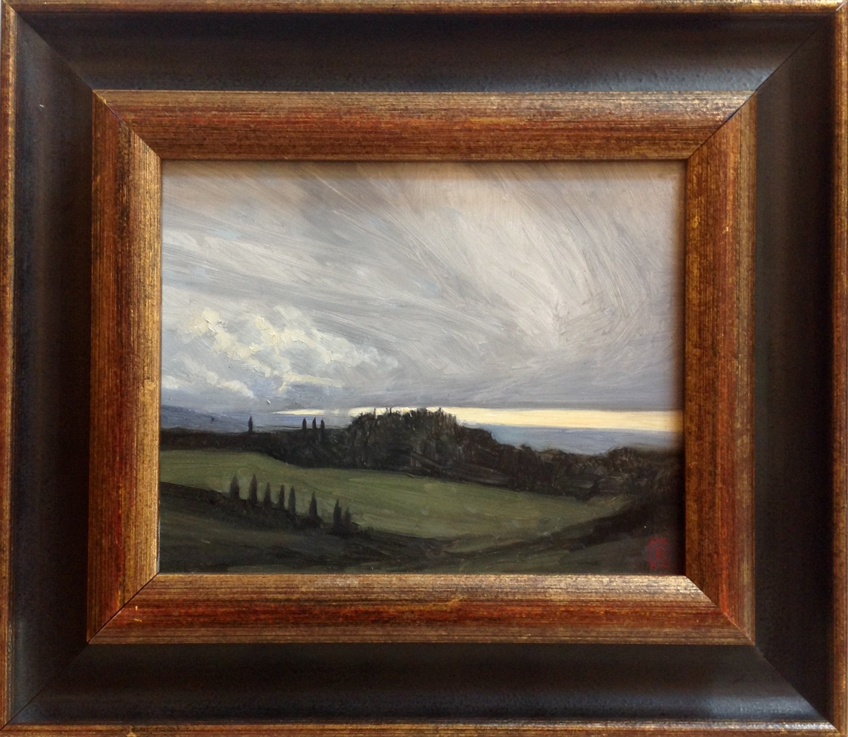 Tuscan Storm Oil on Panel 8x10 by Rebecca King Hawkinson
