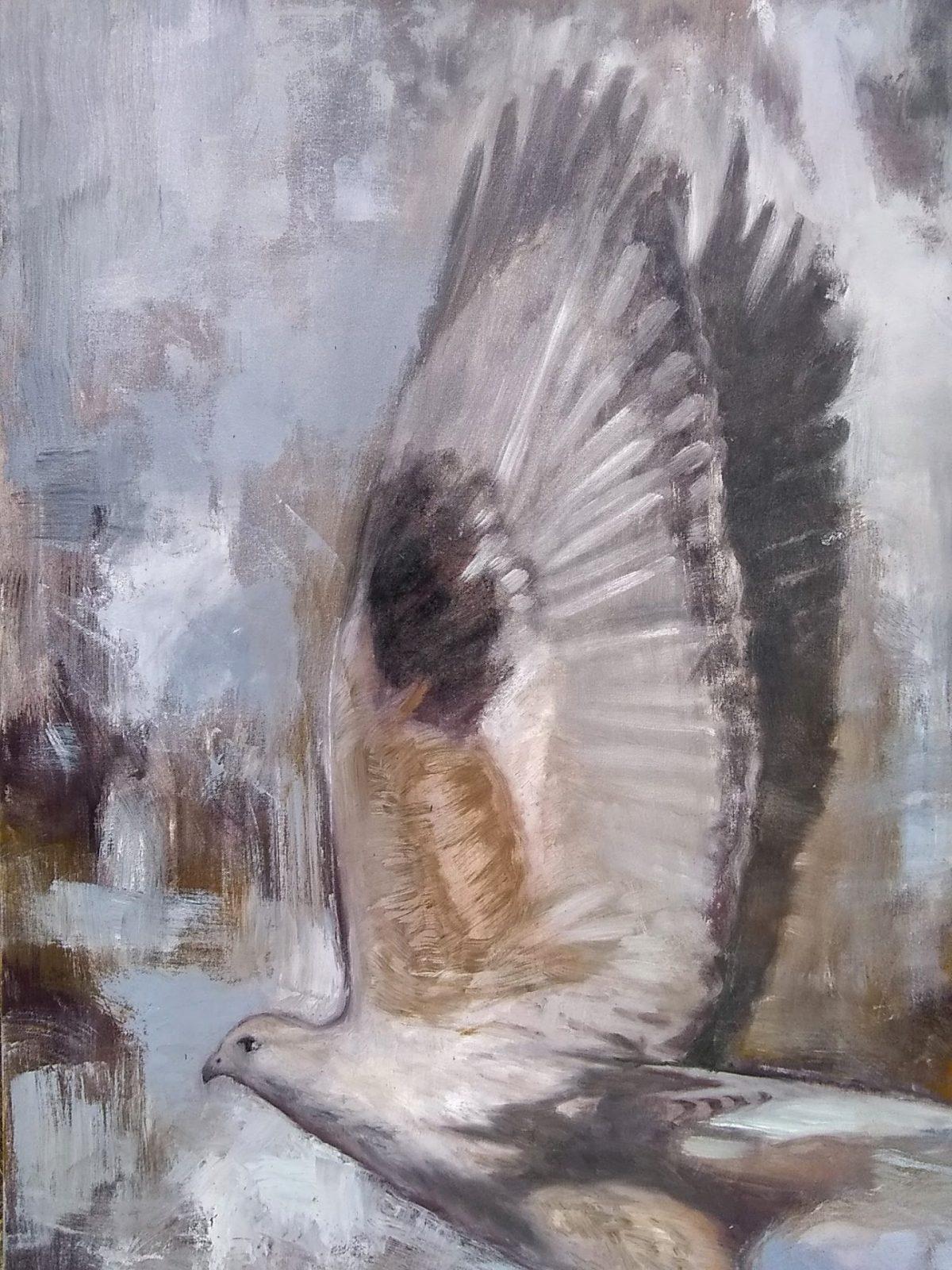 Snap Detail 1 Oil on Canvas 24x30 Rebecca King Hawkinson
