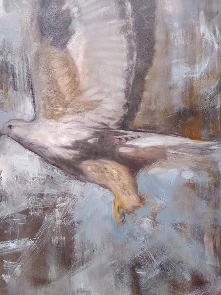 Snap Detail 3 Oil on Canvas 24x30 Rebecca King Hawkinson