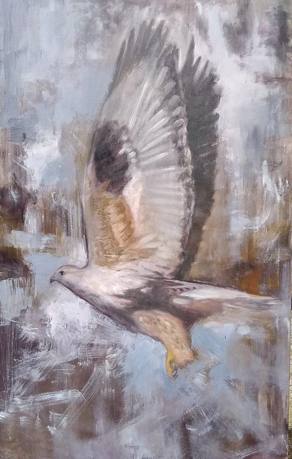 Snap Oil on Canvas 24x30 Rebecca King Hawkinson