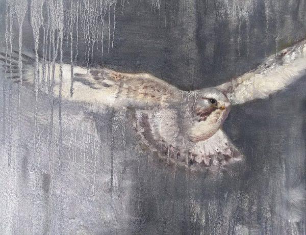 Sneak Detail 1 Oil on Canvas 24x30 Rebecca King Hawkinson