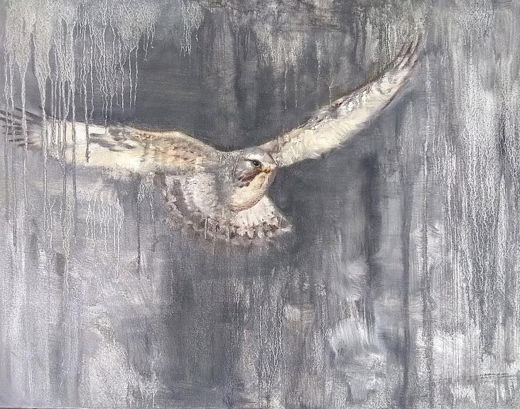 Sneak Oil on Canvas 24x30 Rebecca King Hawkinson