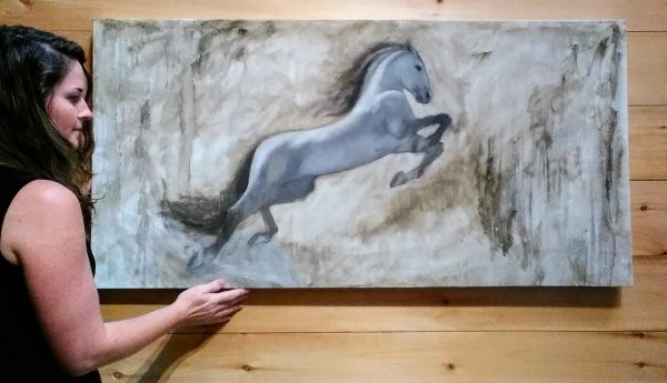 Hang Leap, White Horse Rebecca King Hawkinson