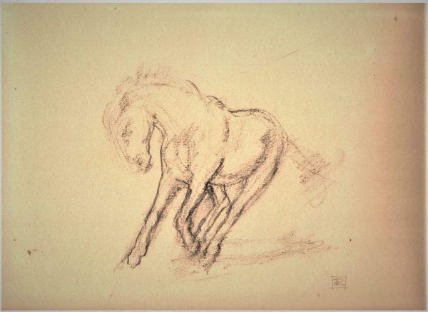 Flick Sketch Charcoal 13.5 x 11 Rebecca King Hawkinson