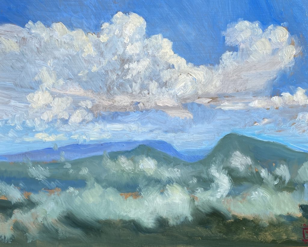 After the Rain 8x10 Oil on Panel Rebecca King Hawkinson