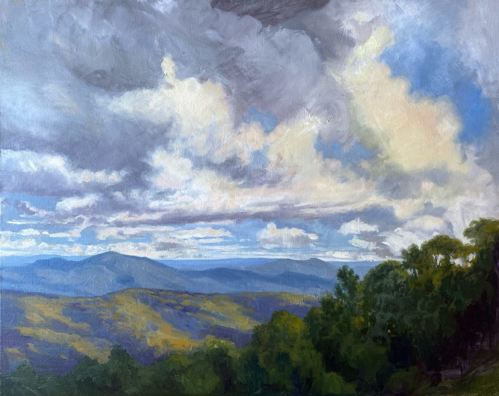 Asheville Art Mountain Movement 24x30 Rebecca N King Hawkinson