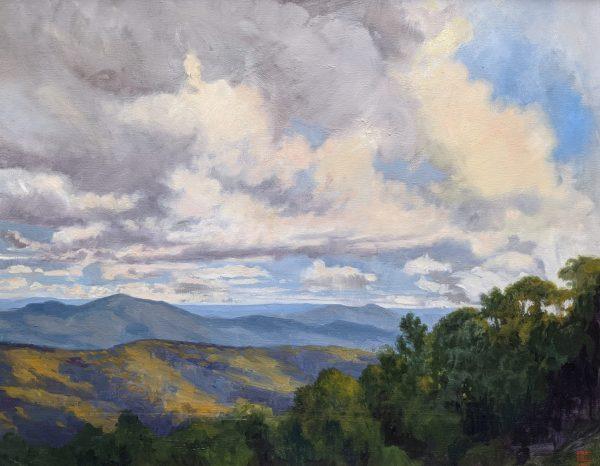 Mountain Movement 24x30 Oil on Canvas Rebecca King Hawkinson