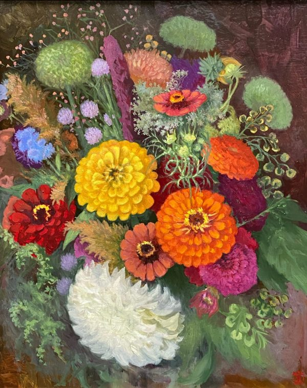 Dahlia painting Rebecca King Art