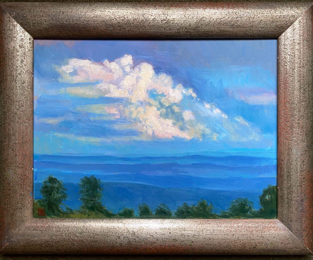 Framed Pillar of Cloud 12x16 Oil on Panel
