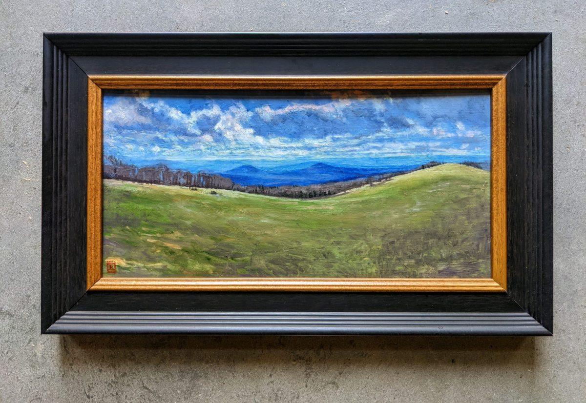 Bear Wallow 8x16 Oil painting on Panel Rebecca King Hawkinson