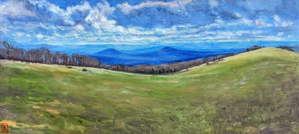 Bear Wallow Oil on Panel Artist Rebecca King Hawkinson