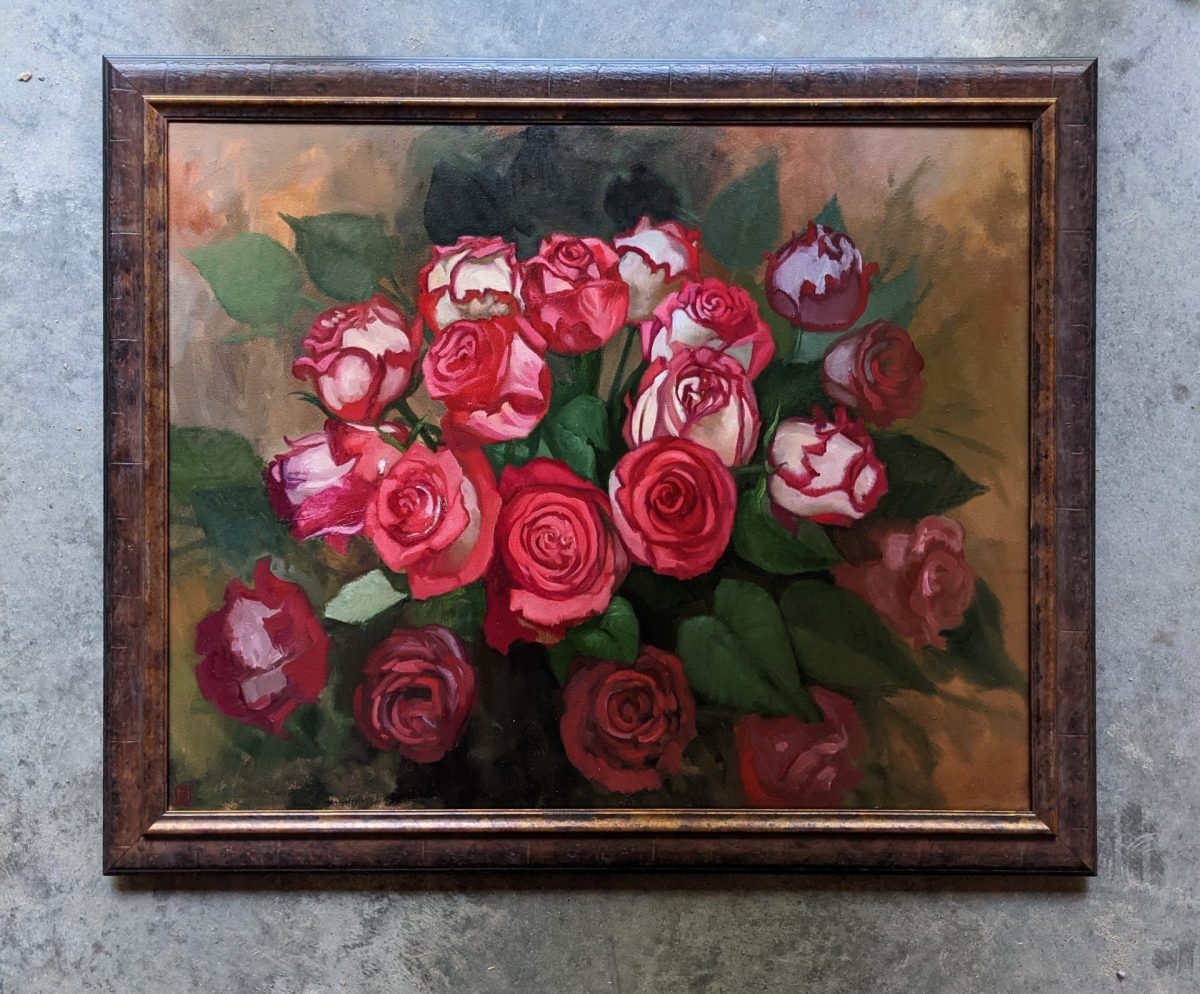 Eveloped Oil on Canvas 24x30 Artist Rebecca King Hawkinson